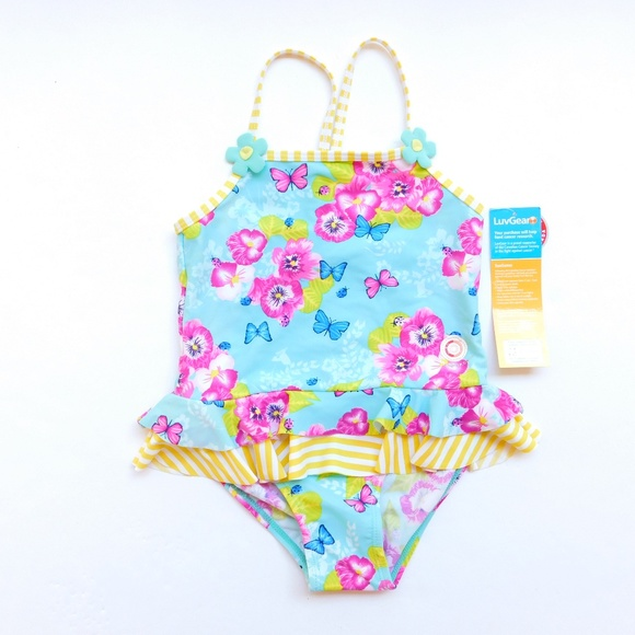 Lace Ruffle Frozen Swimsuit,UPF50+Excellent UV Protection 2T NWT Girl/'s Sz